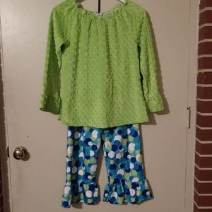 Spring colors - Minky outfit Lolly Wolly Doodle